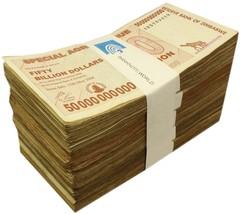 Zimbabwe 50 Billion Dollars X 500 Pieces (PCS), 2008, P-63, USED, Half B... - $2,499.99