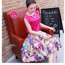 Summer Fashion Women Multi Color Organza Chiffon Sleeveless Sweet Mini D... - £16.91 GBP