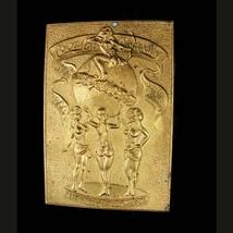Vintage Risque Buckle Nude dancers Coca Cola buckle Nude Bronze brass Be... - $95.00