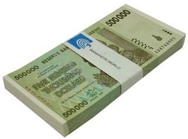 Zimbabwe 500,000(500000) Dollars X 100 Pieces(PCS),2008,P-76,UNC,Bundle,... - $99.99