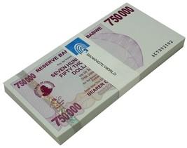 Zimbabwe 750,000 (750000) Dollars Bearer Cheque X 100 Pieces PCS,2007,UN... - $199.99