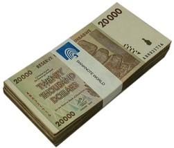 Zimbabwe 20,000 Dollars X 100 Pieces (PCS), 2008, P-73, USED,Bundle,100 ... - $49.99