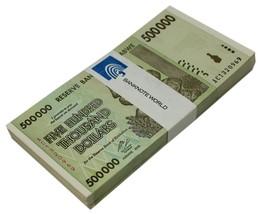 Zimbabwe 500,000 Dollars X 50 Pieces (PCS), 2008, P-76, USED,100 Trillio... - $44.99