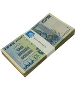 Zimbabwe 1 Million Dollars X 50 Pieces (PCS), 2008,P-77,USED,100 Trillio... - ₨5,113.57 INR