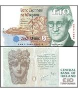 Ireland 10 Pounds, 1999, P-76b, UNC - $135.84 CAD