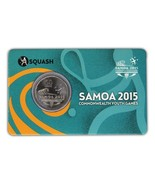 Samoa 50 Sene, 5 g Ni Plated Coin, 2015, Mint, Commonwealth Youth Games ... - €16,06 EUR