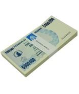 Zimbabwe 5 Million Dollars Bearer Cheque X 100 Pieces (PCS),2008,P-54,UN... - ₨65,029.96 INR