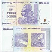 Zimbabwe 10 Billion Dollar Banknote, 2008, P-85, UNC, 50 & 100 Trillion ... - $53.99