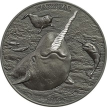Cook Islands $5 Dollars,31g Silver Antique Fini... - $119.99