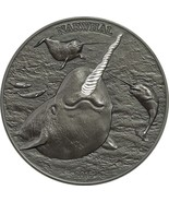 Cook Islands $5 Dollars,31g Silver Antique Finished Coin,2015,Unicorn of... - £89.81 GBP