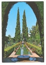 Spain Generalife Gardens Granada Vintage 1971 Postcard 4X6 - $4.99