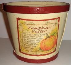 Cream Colored Wooden Basket w/ Pumpkin Butter Recipe - $9.00