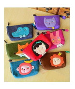 Cute Cartoon Coin Purses Felt Zipper Mini Bags ... - $10.75