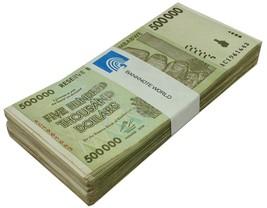 Zimbabwe 500,000 (500000) Dollars X 100 Pieces (PCS), 2008,P-76,USED,Bun... - $79.99