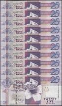 Seychelles 25 Rupees X 10 Pieces (PCS), 2005, P-37b, UNC - $34.99