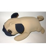 Mogu Dog Pug Puppy Plush Microbead Pillow Stuffed Animal Tan Brown - $10.99