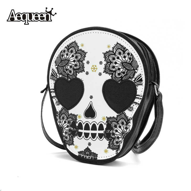 Kull head shoulder crossbody small personalized messenger bag handbag hight quality vintage cute
