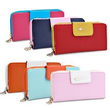 Women Wallets Pumping Multi-card Position Two Fold Wallet lady Long Zipp... - $15.31