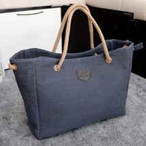 Leisure Canvas Shopper Bag Pure Color Tote Women Ladies Single Shoulder ... - $26.16