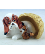 Vintage Napcoware hound dog raccoon in basket m... - $10.00