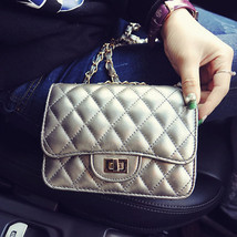 Solid Diamond Lattice Flap s Crossbody Bag Lady Messenger Bag Shoulder B... - $27.50