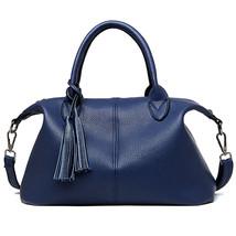women pu Leather tassel pendant handbag portable shoulder handbags lady ... - ₨3,052.86 INR