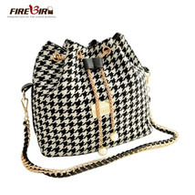 Bucket Bag Handbags Women s PearlPlaid Canvas Messenger Bags Over Should... - $30.95