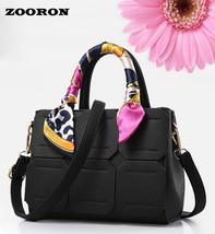 Women Handbags Retro Scarf Cross Single Shoulder Bag women PU leather Ha... - $39.73