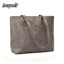 Womens Handbags Nubuck Leather Lady Shoulder Bags Pure Color Large Capac... - ₨2,918.94 INR