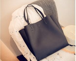 Ndle tote simple shoulder shopping bag leather women large capacity handbag zipper thumb155 crop