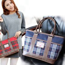 Casual Plaid Oxford Women Ladies Messenger Bags Tote Bag Feminina Bucket... - $46.19