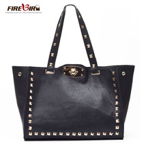 women leather handbags Rivet Messenger Bag handbags carteras mujer marca... - $50.98
