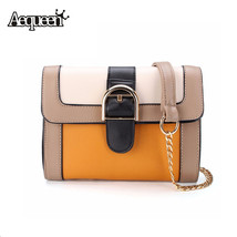 Contrast Panelled LeatherBags Women Lady Crossbody Shoulder Bag Style Sm... - $61.23
