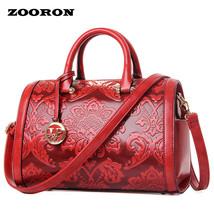 able women RetroStyle luxury bag Boston bag women leather messenger embo... - $71.12