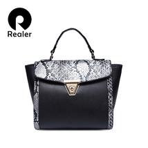 Women leather Trapeze bag luxury Serpentine handbags ladies Zipper Hasp ... - $84.13