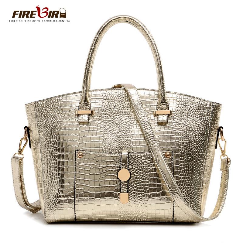 S 2016 new women leather handbags fashion crocodile pattern women bag messenger bag bolsos bolsa