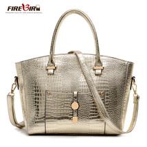 women leather handbags crocodile pattern women bag Messenger Bag feminin... - $91.22