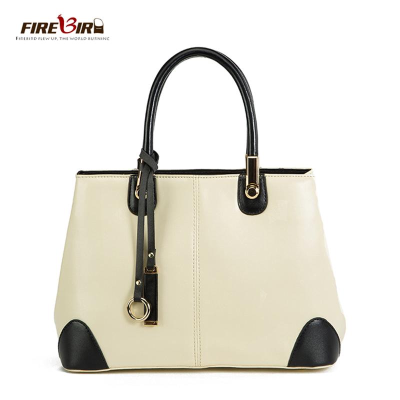 En handbag black and white stitching commuter korean women leather handbags messenger bag hl3005