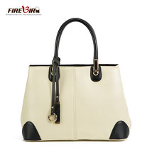 Women Handbag Black and white stitching commuter women leather handbags ... - $91.87