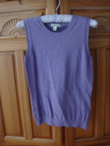 Women's Sleeveless Lavender Knit Top Size Small by Cherokee - $29.99