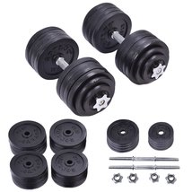 200 LB Weight Dumbbell Set Adjustable Cap Gym B... - $267.29