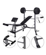 Weight Curl Bench Press Gym Workout Home Exerci... - $160.38