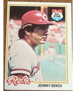 Johnny Bench, Reds,  1978 #700 Topps  Baseball Card - GD COND - CLASSIC ... - $3.95