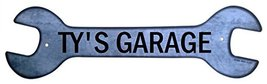 Personalized Metal Wrench Sign - Ty's Garage - ... - $16.99