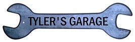 Personalized Metal Wrench Sign - Tyler's Garage... - $16.99