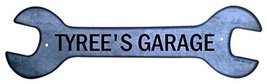 Personalized Metal Wrench Sign - Tyree's Garage... - $16.99