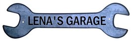 Personalized Metal Wrench Sign - Lena's Garage ... - $16.99