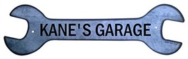 Personalized Metal Wrench Sign - Kane's Garage ... - $16.99