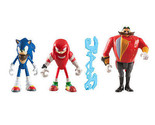 Sonic Boom Diorama 3 Pack 3 inch Action Figure - Sonic, Knuckles and Egg man