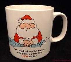Russ Berrie Christmas Mug Definitely Not on Santas List Elves 7987 Gag Gift FS - $19.74